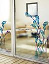 Floral Contemporan Autocolant Geam,PVC a vinyl Material fereastra de decorare
