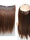 Människohår förlängningar Mänskligt hår 100+5 16,18,20 Hårförlängning