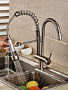 Contemporain Pull-out / Pull-down Vasque large spary / Avec spray demontable / Pivotant with  Valve en ceramique Mitigeur un trou for
