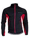 Nuckily Veste de Cyclisme Unisexe Velo Maillot Garder au chaud Pare-vent Respirable Polyester Toison Mosaique Camping / Randonnee Sport