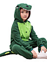 kigurumi Pyjamas Dinosaure Collant/Combinaison Fete / Celebration Pyjamas Animale Halloween Couleur Pleine Polaire Pour EnfantHalloween