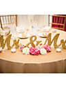 Wooden MR & MRS wedding items Wooden furnishing articles and gold glitter powder letters Wedding supplies
