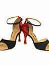 Chaussures de danse(Noir Rouge Argent Or) -Personnalisables-Talon Personnalise-Paillette Brillante-Latines Salsa