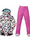 Sport Skidkläder Skid-/snowboardjackor Dam Vinterplagg Polyester VinterkläderVattentät Andningsfunktion Håller värmen Vindtät Fleecefoder