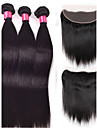 Human Hår vävar Brasilianskt hår Ret 4 delar hår väver
