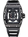 SKONE Bărbați Ceas Sport Ceas Schelet Ceas La Modă Ceas de Mână Unic Creative ceas Quartz Rezistent la Apă Luminos Silicon BandăVintage