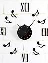Moderne/Contemporain Retro Vacances Pastoral Inspire Famille Dessin anime Horloge murale,Rond Nouveaute Metal 40 Interieur/Exterieur