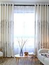 Deux Panneaux Le traitement de fenetre Europeen , Bande dessinee Chambre a coucher Metisse Lin et Polyester Materiel Rideaux Tentures