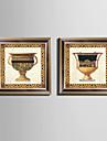 Nature morte Toile Encadree Set de Cadres Art mural,PVC Materiel Marron Sans Passepartout Avec Cadre For Decoration d\'interieur Cadre Art