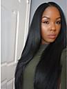 varm naturlig rak peruk obearbetade brasilianskt jungfru människohår spets front peruk för svarta kvinnor