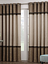 Deux Panneaux Le traitement de fenetre Neoclassique , Solide Salle de sejour Polyester Materiel Rideaux Tentures Decoration d\'interieur