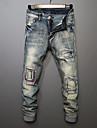 Bărbați Drept Simplu Talie Medie,Micro-elastic Blugi Pantaloni Mată