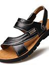 Bărbați Sandale Primăvară Vară Toamnă Confortabili Tălpi cu Lumini Piele Outdoor Birou & Carieră Casual Party & Seară Toc Plat Volane
