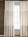 Två paneler Fönster Behandling Rustik Modern Nyklassisistisk Medelhavet Europeisk Sovrum Linne/Polyesterblandning Materialgardiner