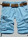 Bărbați Mărime Plus Size Drept Zvelt Pantaloni Chinos Pantaloni Scurți Pantaloni Simplu Șic Stradă Activ Solid Casul/Zilnic Plajă Sporturi