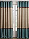 Två paneler Fönster Behandling Medelhavet , Solid Vardagsrum Polyester Material gardiner draperier Hem-dekoration For Fönster
