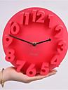Autres Autres Horloge murale,Rond Metal Plastique 22*8.2 Interieur Horloge