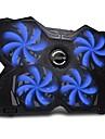 fn-30 bärbara blå LED-ljus kraftfull bärbar dator kylning pad svalare matta för 15-17 tum bärbara Macbooks