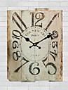 Traditionnel Rustique Retro Fleurs / Botaniques Personnages Musique Horloge murale,Rond 30*30 Interieur/Exterieur Horloge