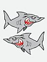 mur de la fenetre drole de voiture autocollant de voiture de requin 2pcs voiture autocollant de style