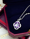Femme Pendentif Cristal Basique Adorable Mode Violet Bijoux Quotidien Decontracte 1pc