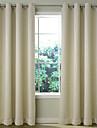 Två paneler Fönster Behandling Rustik Modern Nyklassisistisk Medelhavet Rokoko Barock Europeisk Designer , Solid Rand Vardagsrum