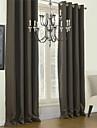 En panel Modern Solid Multifärgad Living Room Polyester Blackout Gardiner draperier