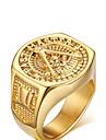 Inele Afirmatoare Iubire Personalizat Placat Auriu Bijuterii Auriu Bijuterii Pentru Nuntă Petrecere Zi de Naștere Zilnic Casual Sport1