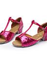 Chaussures de danse() -Non Personnalisables-Talon Bas-Paillettes-Latines