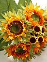 6 Une succursale Soie Tournesols Fleur de Table Fleurs artificielles 27