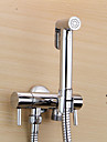 Robinet pour bidet  ,  Moderne  with  Chrome 2 poignees 1 trou  ,  Fonctionnalite  for Montage mural Retractable