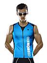 Mysenlan Gilet de Cyclisme Sans Manches Homme Sans manche Velo Gilet/Sans Manche Sechage rapide Respirable Polyester Mode Ete Vert Bleu