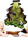 Animaux Stickers muraux Autocollants muraux 3D Autocollants muraux decoratifs,Vinyle Materiel Decoration d\'interieur Calque Mural