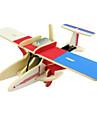 Leksaker för pojkar Discovery toys Soldrivna leksaker Jaktplan Trä Silver Brun