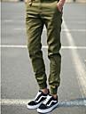 Bărbați Zvelt Simplu Talie Joasă,Micro-elastic Pantaloni Chinos Pantaloni Mată