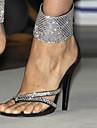 Sandale Primăvară Vară Toamnă Pantofi Club Lână Rochie Casual Party & Seară Toc Stiletto Piatră Semiprețioasă Negru