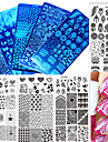 1pcs nouveau pochoirs estampage mode plaque d\'estampage en acier inoxydable clou design image coloree douce beaute diy ongles outil