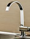 Contemporain Debit Normal Vasque Pivotant with  Soupape ceramique Mitigeur un trou for  Chrome , Robinet de Cuisine