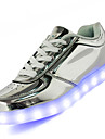 Exterieure Decontracte Sport-Noir Blanc Argent Or-Talon Bas-Confort Semelles Legeres Light Up Chaussures-Baskets-Cuir