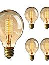 5pcs G95 bulbes anciens edison retro vintage e27 ampoules a incandescence ampoule a filament decoratif 40W 220-240V lumiere EDISON