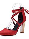 Homme-Mariage Habille Soiree & Evenement-Noir Rouge Blanc Beige-Gros Talon-Nouveaute D\'Orsay & Deux Pieces club de Chaussures-Chaussures