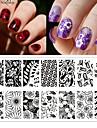 theme des fleurs nail art stamp image modele plaque rctangular estampage plaques ne assez bp-L024 12,5 x 6.5cm