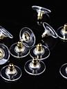 50 Pcs Rivet de boucle d\'oreille Bijoux Basique Ajustable Plaque argent Plaque or Or Argent Bijoux Pour Quotidien Decontracte 1set