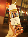 Transparente Sportif Aller Outdoor Articles pour boire, 500 ml Portable Sans BPA Verre Polypropylene jus Eau Bouteilles d\'Eau