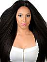 hög kvalitet Yaki rakt mänskliga jungfru peruker kinky rakt med baby hår limfria fullt spetsar peruker för svart kvinna mellanbrun