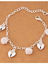 Pentru femei Brățări cu Talismane Aliaj La modă Round Shape Argintiu Bijuterii 1 buc
