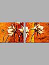 Pictat manual Peisaj Floral/Botanic Orizontal,Modern Stil European Două Panouri Canava Hang-pictate pictură în ulei For Pagina de decorare