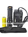 LT Lampes Torches LED LED 2000 Lumens 5 Mode Cree XM-L T6 18650 26650Etanche Rechargeable Resistant aux impacts Tete crenelee Tactique