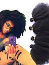 Tissages de cheveux humains Cheveux Mongoliens Tres Frise 12 mois 4 Pieces tissages de cheveux