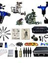 Kit de tatouage complet1 x Machine a tatouer en fonte pour le tracage et l\'ombrage 2 x Machine a tatouer rotative pour le tracage et